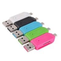 Card Reader OTG USB Multi Micro SD & SD Card Bisa Ke HP dan Laptop