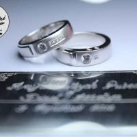 sepasang cincin kawin gold 22k(white,rose,yellow) + platinum 90%