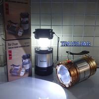 Lentera Senter Lampu Camping Emergency Solar Cell dan powerbank KT611