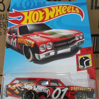 B0100-HOT WHEELS / HOTWHEELS-'70 CHEVELLE SS WAGON-MERAH