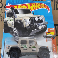 S0006-HOT WHEELS / HOTWHEELS-'15 LAND ROVER DEFENDER DOUBLE CAB-GREY