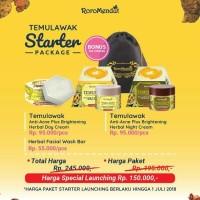 Starter Temulawak anti acne Plus Brightening Roromendut