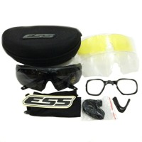 Kacamata Ess Black Crossbow Plus 3 Lensa
