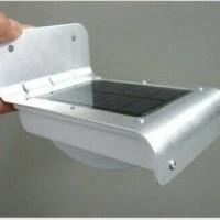 Jual Lampu Pagar / Taman 16 LED Solar Cell / Panel Surya / Matahari