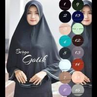 Jilbab/ Kerudung Besar Syari/ Bergo Jumbo Gotik ....