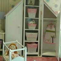 lemari mini pakaian baju anak bayi almari furniture unik model rumah