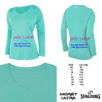 Moret Spalding t-shirt kaos olahraga lengan panjang mint