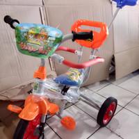 sepeda anak roda tiga besi family 318 stir doronganpengamaninjakankaki