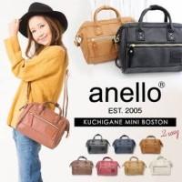 tas Anello boston leather ORIGINAL sling bag small handbag kulit 2 way