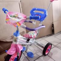 sepeda anak roda tiga besi family 318 stir doronganpengaman tempatkaki
