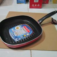 Maxim Teflon Square Griil Pemanggang Alat Panggang Fry Pan 26cm