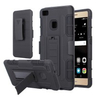 Huawei P9 Lite soft case casing hp cover belt clip stand FUTURE ARMOR