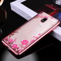 Samsung J2 Pro 2018 soft case casing hp back cover bunga TPU FLOWER