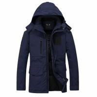 GROSIR Trigonal Jaket Biru Navy Waterproof Pria Nike Adidas Parasut
