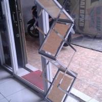 Sale! Rak Brosur Display Acrilic Zig Zag 7 Susun Stainless Hot
