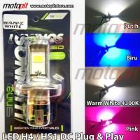 Dijual Luminos Led H4 / Hs1 Lampu Utama Motor Vixion Scoopy Fi R15 Mx