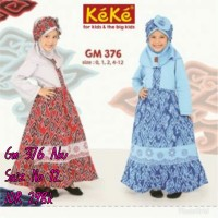 Keke Baju Anak Muslim GM 376 Abu No12 Diskon / sale / Obral 25%