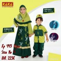 Keke Baju Anak Muslim KK 443 Ungu No4 Diskon / Sale /Obral 25%