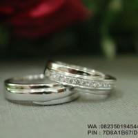 sepasang cincin nikah palladium 75%