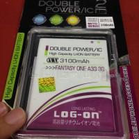 Baterai Mito A33 Fantasy One 3100mah Double Power Log On