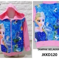 JKKD120 - Jaket Anak Frozen Blue Palace Babypink