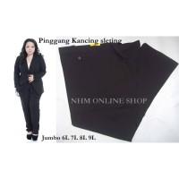 Celana Bahan Big Size Kerja wanita formal celana bahan jumbo kancing