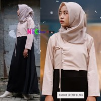 Colortion Volume Modern Hanbok Set (Cream Black)