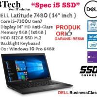 """DELL Latitude 7480 ( 14"""" Inch ) Core i5-7200U/8GB/512GB/WIN10PRO."""