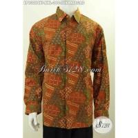 Baju Batik Pria Lengan Panjang Ukuran XXL LP8328CTF
