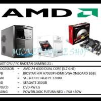 (Turun Harga!!) Paket Cpu / Pc Rakitan Gaming 21 /Amd A4-6300(3.7