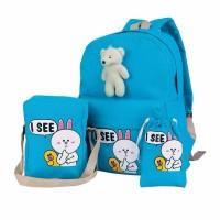baru tas ransel anak perempuan 3 in 1 catenzo junior CIN 032