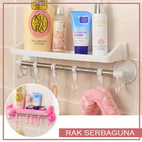 READY Rak Kamar Mandi Serba Guna Tempat Shampoo Handuk Odol Sabun Baj