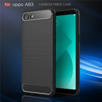FIBER LINE Oppo A83 spigen like soft case casing hp cover tpu carbon