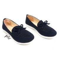 Sepatu Wanita Kets Slip On Laser Casual RY01 Navy 80a42e5bae