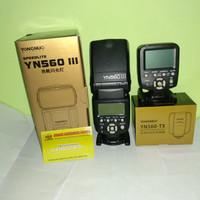 paket hemat flash yongnuo YN-560III+YN560TX canon/nikon(pilih salah 1)