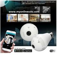 Paket Wireless Wifi IP Camera CCTV Fish Eye Panoramic 360 Bolam v380