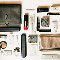 DOMPET/POUCH BULGARY FOR MAN TRAVEL KIT BY FLY EMIRATES