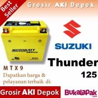 spare part motor Aki Thunder 125 Suzuki MTX9 MOTOBATT accu motor gel