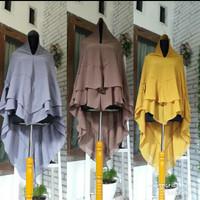 jilbab syari ceruti dua layer tumpuk hijab khimar polos instan murah