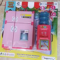Mainan Kulkas Mini dan Dispenser Galon Unik
