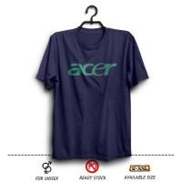 Promo Kaos XXXL Distro ACER logo Laptop Notebook warna Biru Dongker