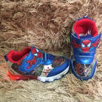 sepatu kets lampu led spiderman / led spiderman / sepatu spiderman