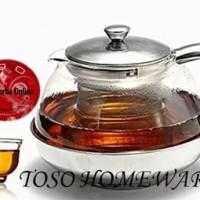 Harga stainless tea pot with infuser filter teapot 800ml teko teh | antitipu.com