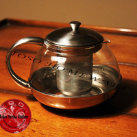 Harga stainless tea pot with infuser filter teapot 1050ml teko teh | antitipu.com