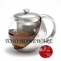 Harga stainless tea pot with infuser filter teapot 750ml teko teh | antitipu.com