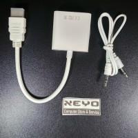 HDMI Converter HDMI to VGA Adapter Cable Conversion dengan audio port