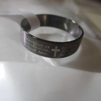 Cincin Hitam Titanium -Black Stainless Steel DOA BAPA KAMI