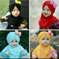 jilbab bayi pita samping lucu murah grosir