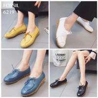 Sepatu Wanita F*OSSIL 6219 Kulit Kets Shoes Sneakers Flat