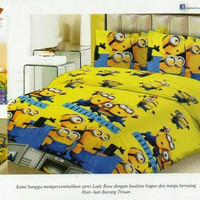 Sprei Lady Rose Bantal 4 Minion 180x200
